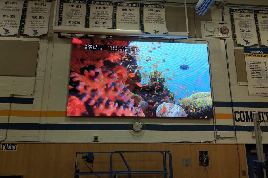 School LED screen 2019